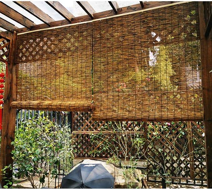 Persianas Enrollables De Bambú Natural,Cortinas De Caña ...