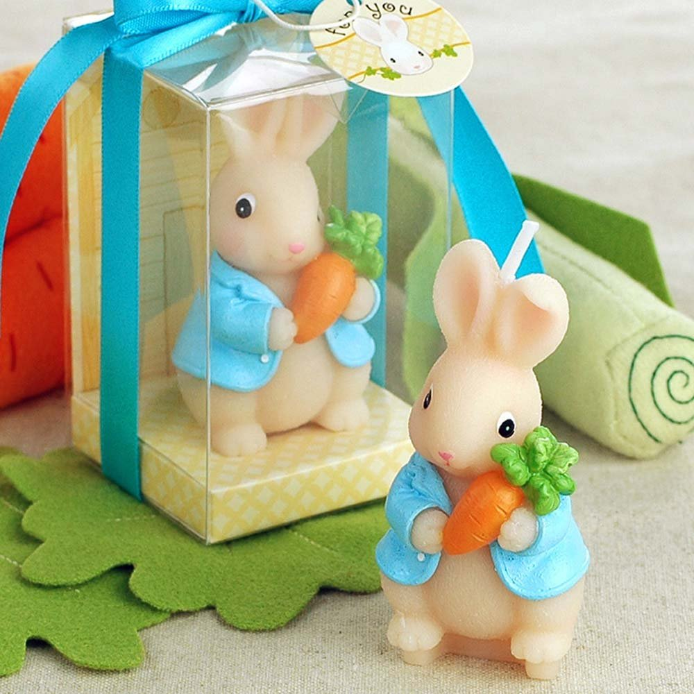 Osye Carrot Rabbit Bunny Candles for Birthday/Party, Smokeless
