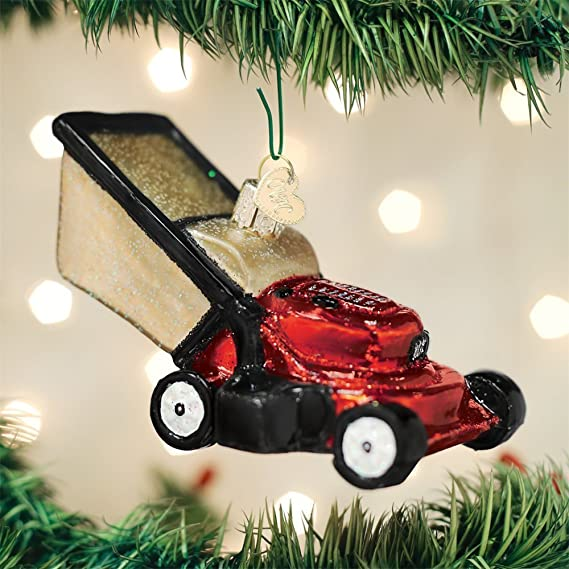 - Amazon.com: Old World Christmas Lawn Mower Ornament: Home & Kitchen