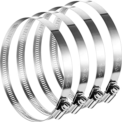 Amazon Com Boao 4 Pieces Adjustable 304 Stainless Steel Duct Clamps