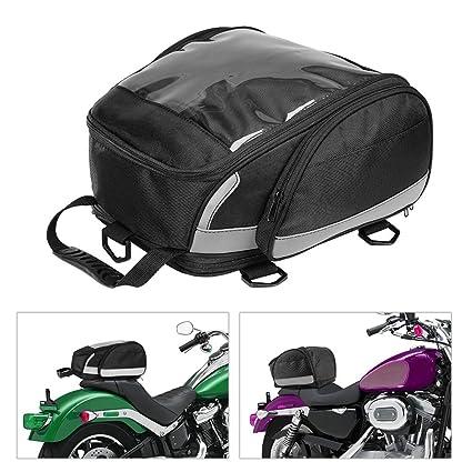 BONNIO Bolsa de Cola para Motocicleta Bolsa de Equipaje ...