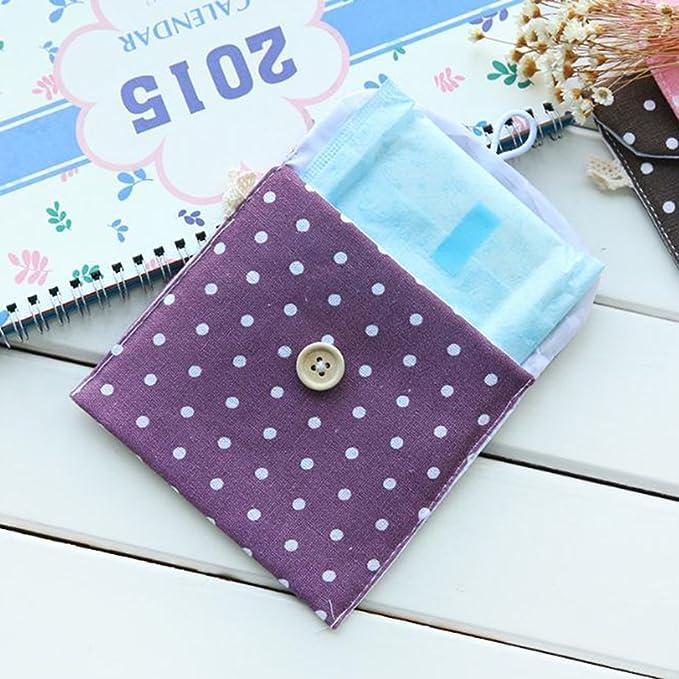 Doitsa, 2 piezas, pequeño monedero de tela para niña o mujer; bolsa para guardar toallas sanitarias, cambio, tarjeta de crédito, objetos pequeños; ...
