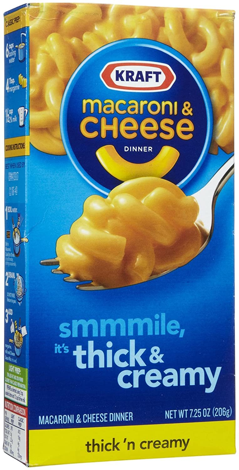 Kraft Thick and Creamy Macaroni and Cheese Dinner, 7.25 oz Box