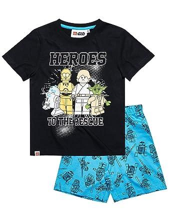 1bc6e6b5f8c63 STAR WARS Pyjama Court Enfant garçon Lego Noir/Bleu de 4 à 10ans:  Amazon.fr: Vêtements et accessoires