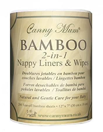 Multipurpose Purest Bamboo Nappy Liners & Wipes (200 pack)
