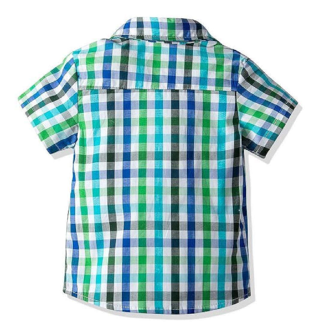 Pandapang Boy Vogue Tracksuit Jean Denim Pants Bowknot Plaid Suspender Shirts