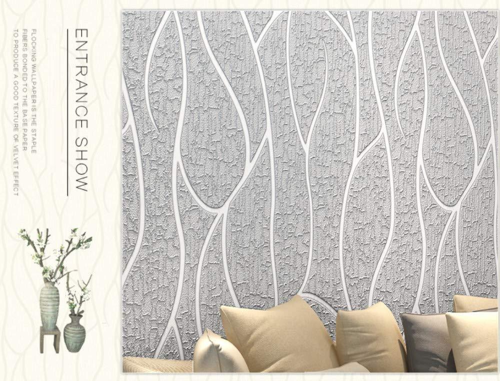 Papel Pintado No Tejido Murales Estereosc/ópico 3D Raya Estampada Color Beige Papel de Pared Dormitorios Sal/ón Hotel Fondo de TV Elegante Moderno Fine Decor