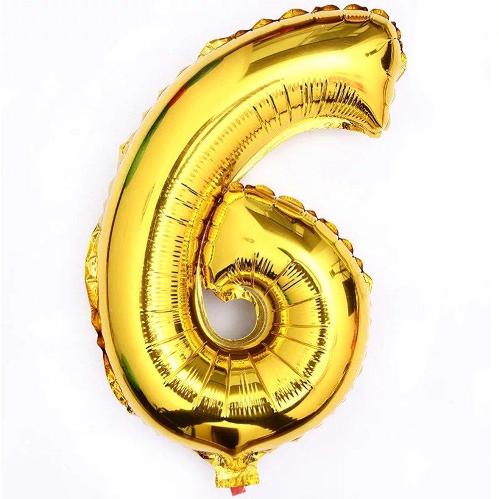 Giant Golden 40/Number 0-9 Aluminum Foil Digital Balloons for/Decoration Digital 8 Mao Fan Latex products co LTD
