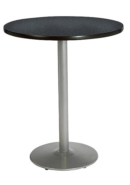 Amazon kfi seating round bar height pedestal table with round kfi seating round bar height pedestal table with round silver base commercial grade 42 watchthetrailerfo