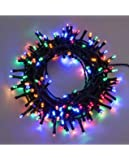 Catena 7,5 m, 180 led multicolor, con giochi di luce, cavo verde, EX Best Value, luci di Natale, luci per l'albero di Natale, luci colorate