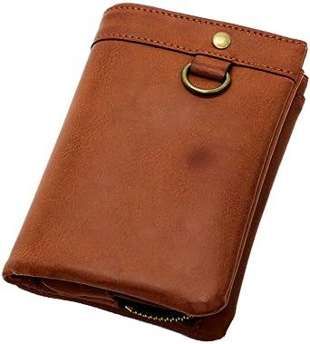 b60c45bd7d2a2f [エムアールユー] 財布 二つ折り財布 PUレザー 小銭入れ取り外し メンズ ブラウン Free