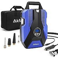 Akface Compresor de Aire Coche,Inflador Coches Portatil,Inflador Neumaticos hasta 150 PSI,Compresores 12v para Bicicleta…