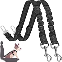 Cinturón de Seguridad de Coche para Perros, Cinturón Perro Coche con elástico y Fuerte mosquetón, Universal para…