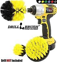 Drillbrush 3 件套鉆頭刷清潔工具附件套件,適用于擦洗/清潔瓷磚、灌漿、淋浴缸和所有其他通用擦洗