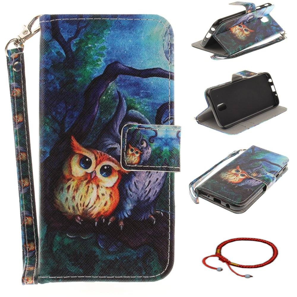 GOCDLJ Samsung Galaxy S8 Plus PU Leather Flip Cover Cell Phone Case Wallet Stand Function with Lanyard Strap Magnetic Holder Cash Pocket Shell Design Half flowers