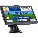 NAVRUF GPS Navigation for Car 7 Inch with High Resolution Touch Screen Real Voice Direction Vehicle GPS Navigator Lifetime Ma