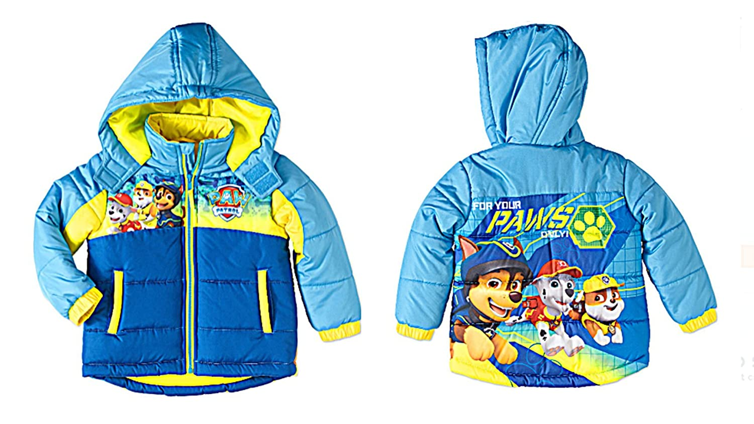 cb64902f6ce7 Amazon.com  Paw Patrol For Your Paws Only Toddler Boys Blue Hooded ...
