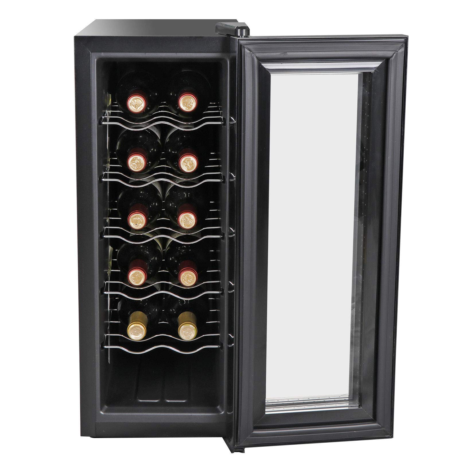 AK Energy 12 Bottles Wine Cooler Refrigerator Air-tight Seal Quiet 50-64 F Temperature Control Freestanding by AK Energy (Image #1)