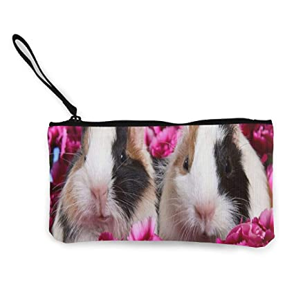 Make Up Bag TR7FD15DE Panda Zipper Canvas Coin Purse Wallet Cellphone Bag With Handle