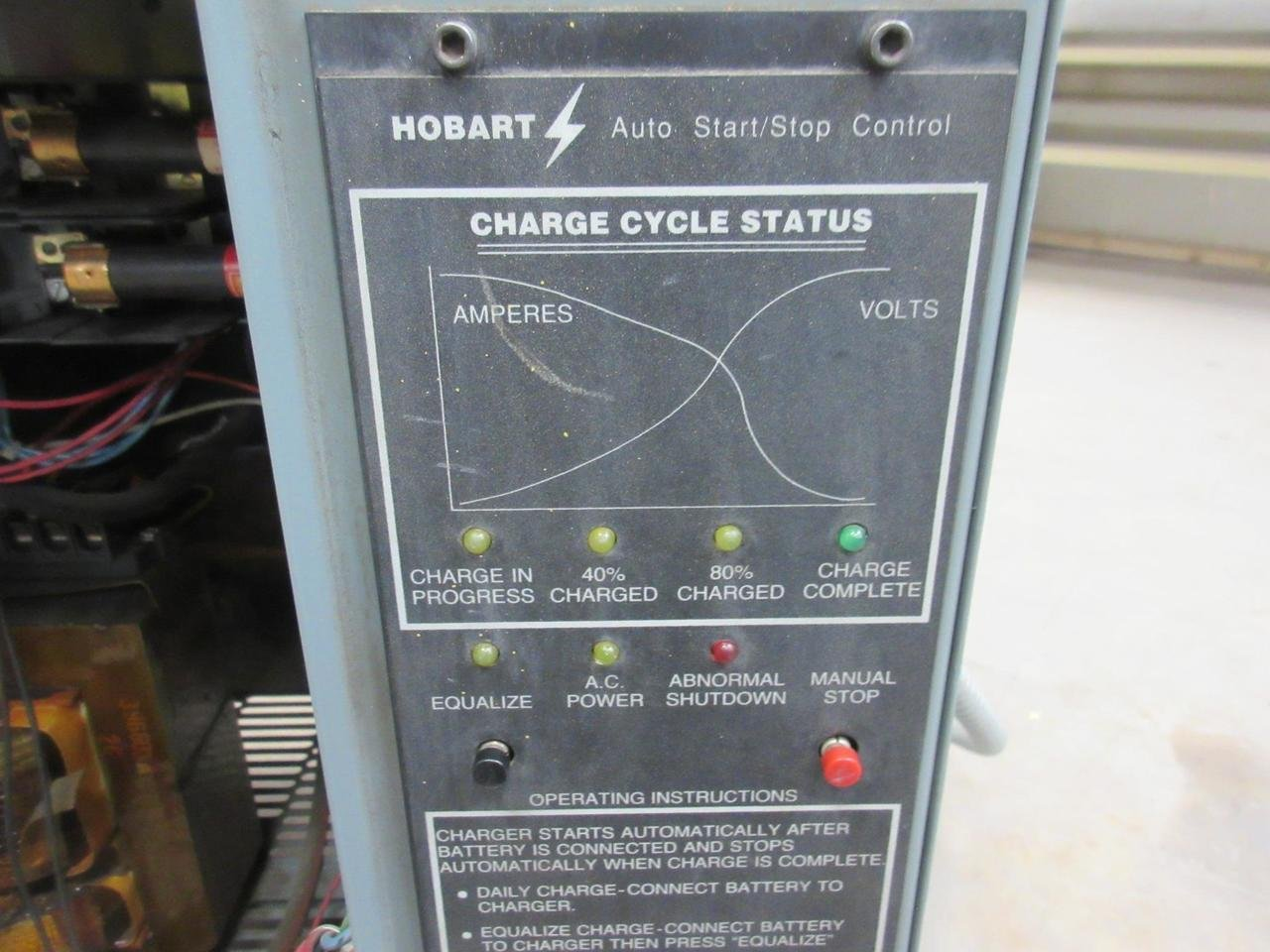 Hobart 540b1 12r 24 Vdc 451 540 Ah Forklift Battery Charger T98524 Wiring Diagram Industrial Scientific