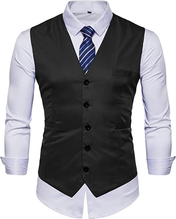 Amazon.com: AOYOG - Chaleco formal para hombre de negocios ...
