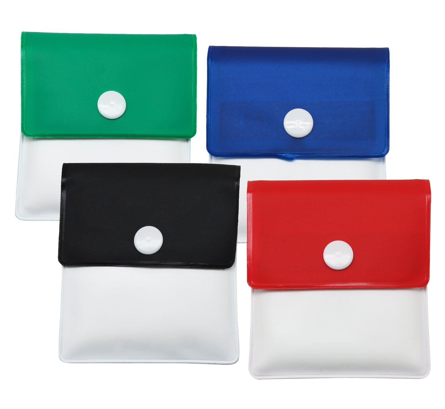 Meta-U Pocket Ashtray Pouch- Fireproof PVC-Odor Free-Portable Compact- Assorted Color- Pack of 4 TA100300