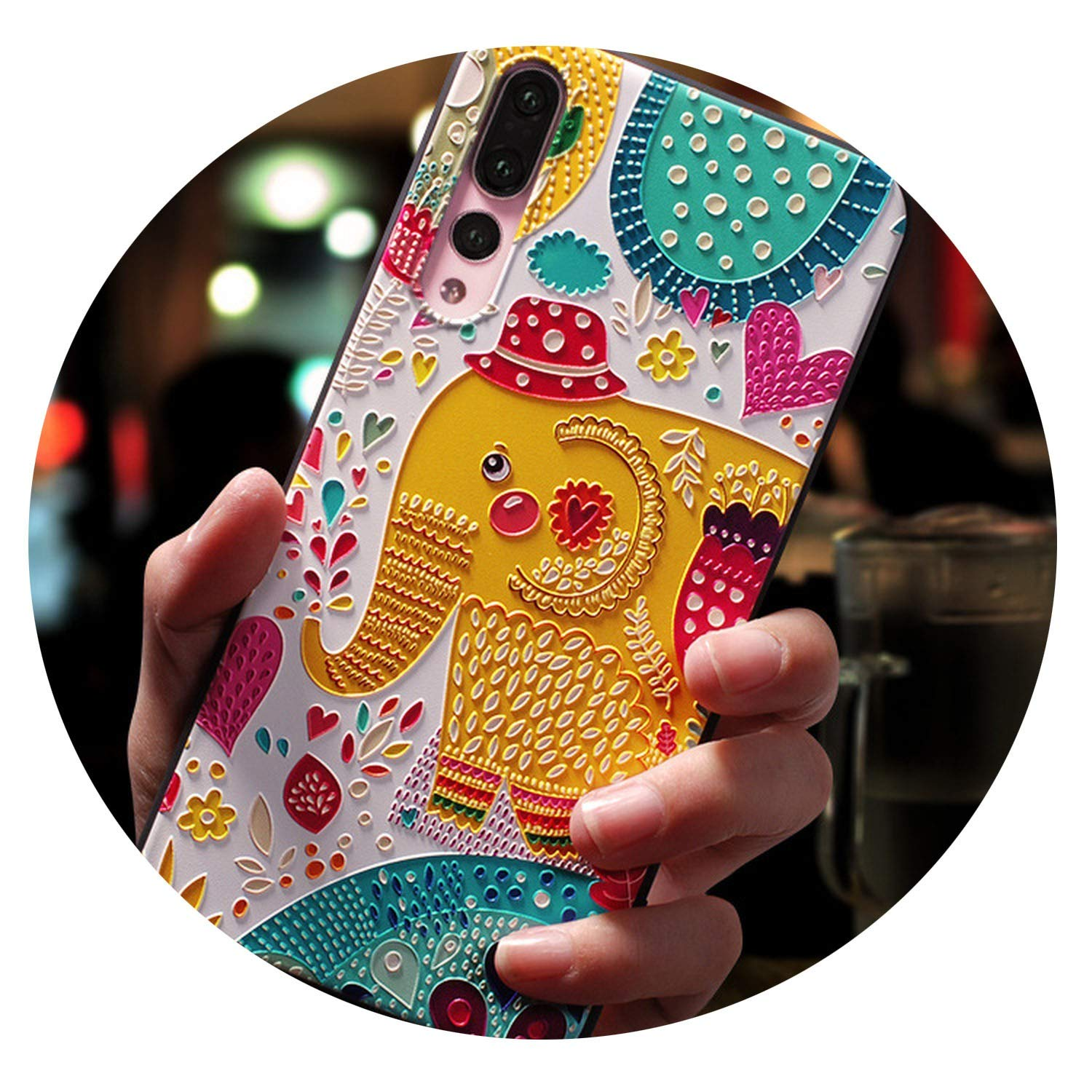 Amazon.com: Soft TPU 3D Emboss Cover for Huawei Honor 8X 7A ...