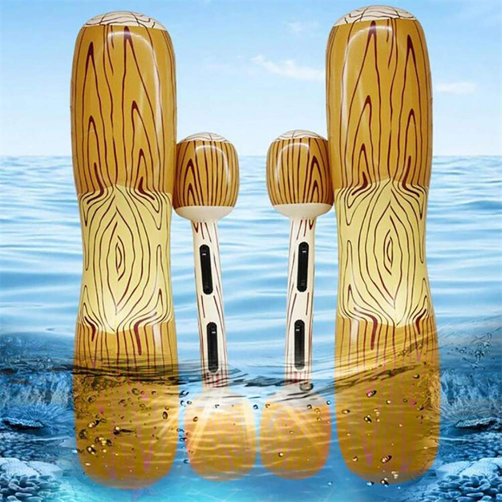 HsgbvictS Funny Wood Grain Inflatable Kid Adult Water Floating Toys Outdoor Summer Row Bar Wood Grain Design, Inflatable, Funny by HsgbvictS (Image #2)