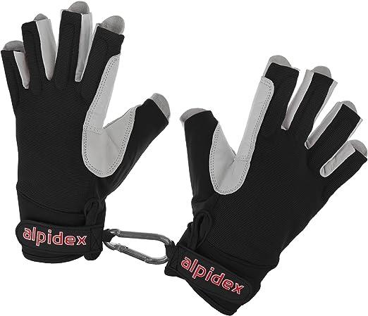 ALPIDEX Climbing glove half finger unisex real leather