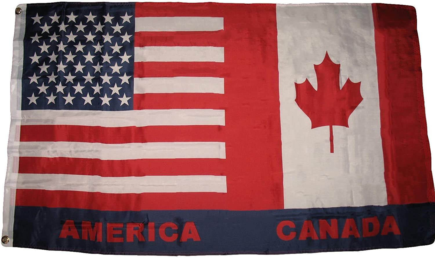 """12""""x18"""" USA Canada American Canadian Friendship Boat Flag indoor/outdoor PREMIUM Vivid Color and UV Fade BEST Garden Outdor Resistant Canvas Header and polyester material FLAG"""