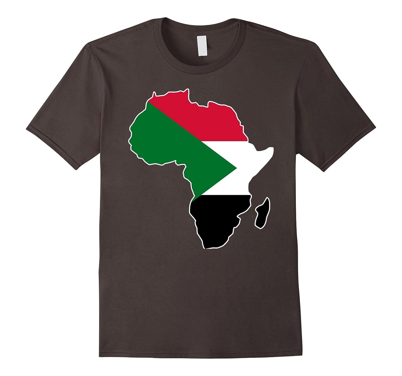 Sudan flag t-shirt Africa map t-shirt-BN