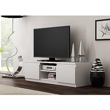 Hervorragend TV Lowboard Board Fernseher Schrank Fernsehtisch Unterschrank TV Möbel Weiß  ,,Pariu0027u0027