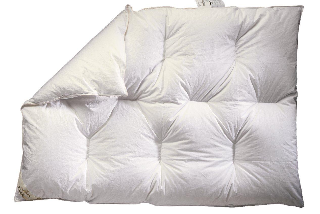 ARO Artländer 9043200 Bettdecke - Kinder - Karo, Luxus, polnische weiße neue Federn und Daunen 30%, Kochfest 95°, Größe 100 x 135 cm