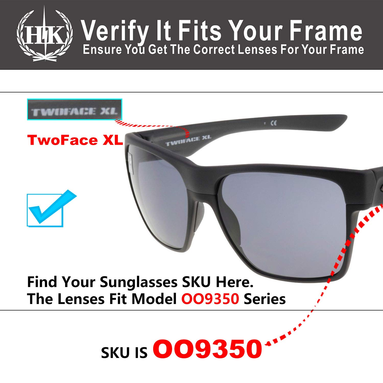 f532ac986e HKUCO Replacement Lenses For Oakley TwoFace XL OO9350 Red Blue Black 24K  Gold Titanium Sunglasses  Amazon.com.au  Fashion
