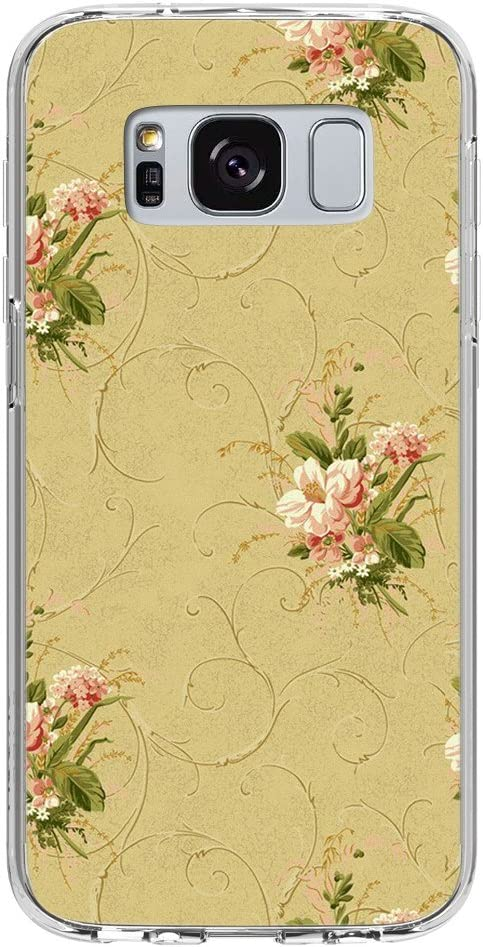 Antique Vintage Flower Wallpaper Pattern In Pink And Green Samsung Galaxy S8 Plus Phone Case Amazon Ca Cell Phones Accessories