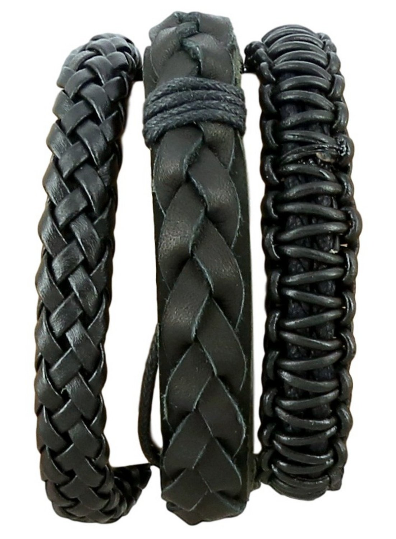 ShalinIndia Multi Layer Leather Bracelet for Boys & Young Men Fashion Jewelry