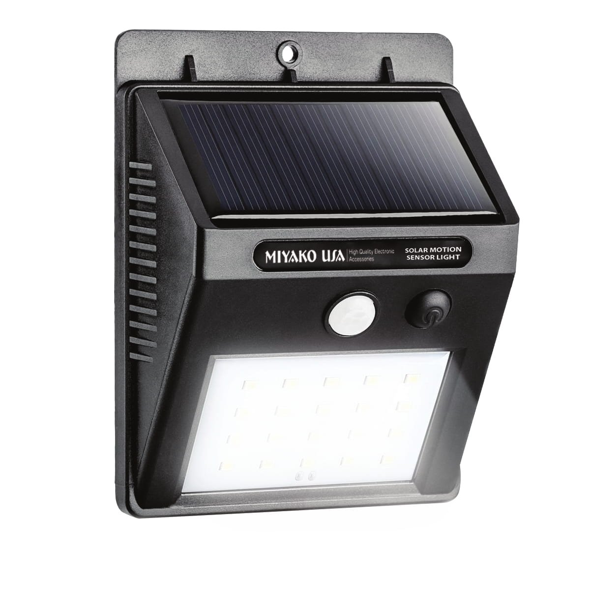 MIYAKO USA Sun Powered Motion Sensor Light - 20 LED HETP Bright Outdoor Security Lights, Wireless and Waterproof (SEL-009)