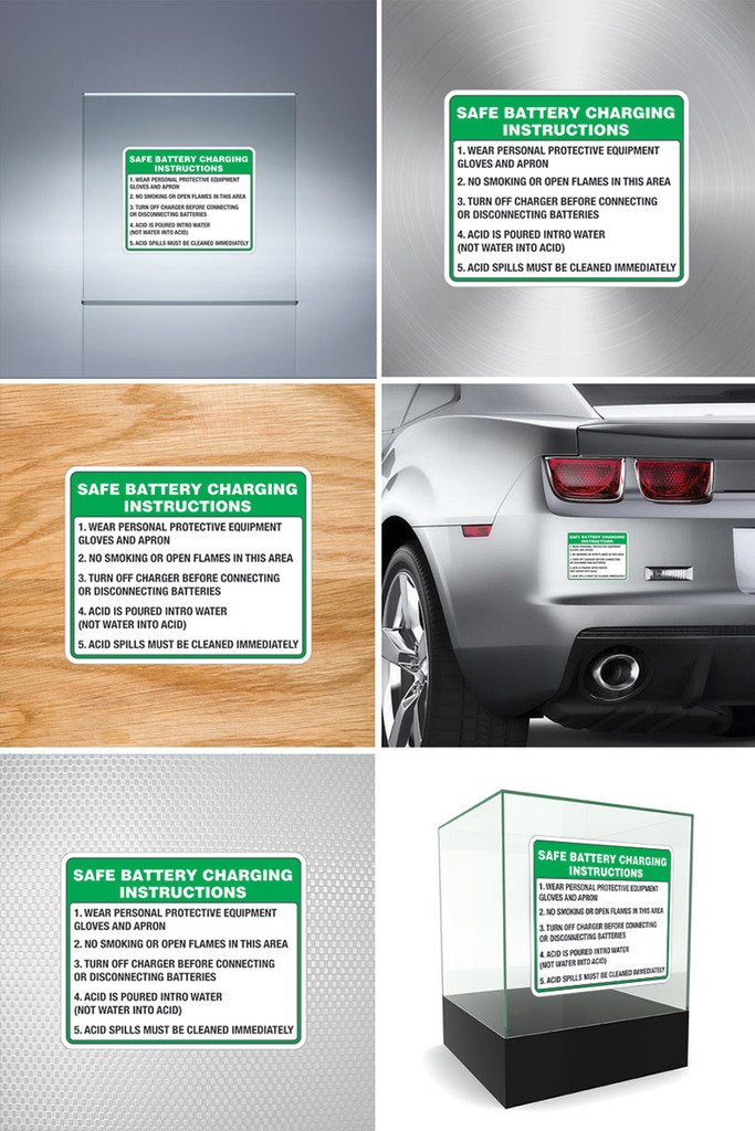 Amazon Sticker Safe Battery Charging Instructions 1 Wear