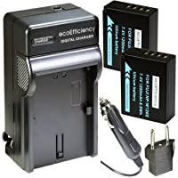 ecoEfficiency 2 NP-W126S Batteries and Charger for FujiFilm X-H1, X-T10, X-T20, X-T30, X-T100, X-100F, X-Pro1, X-Pro2, X-A2, X-A3, X-A5, X-A10, X-E1, X-E2, X-E2S, X-E3, X-M1, X-T1, X-T2, X-T3 Cameras