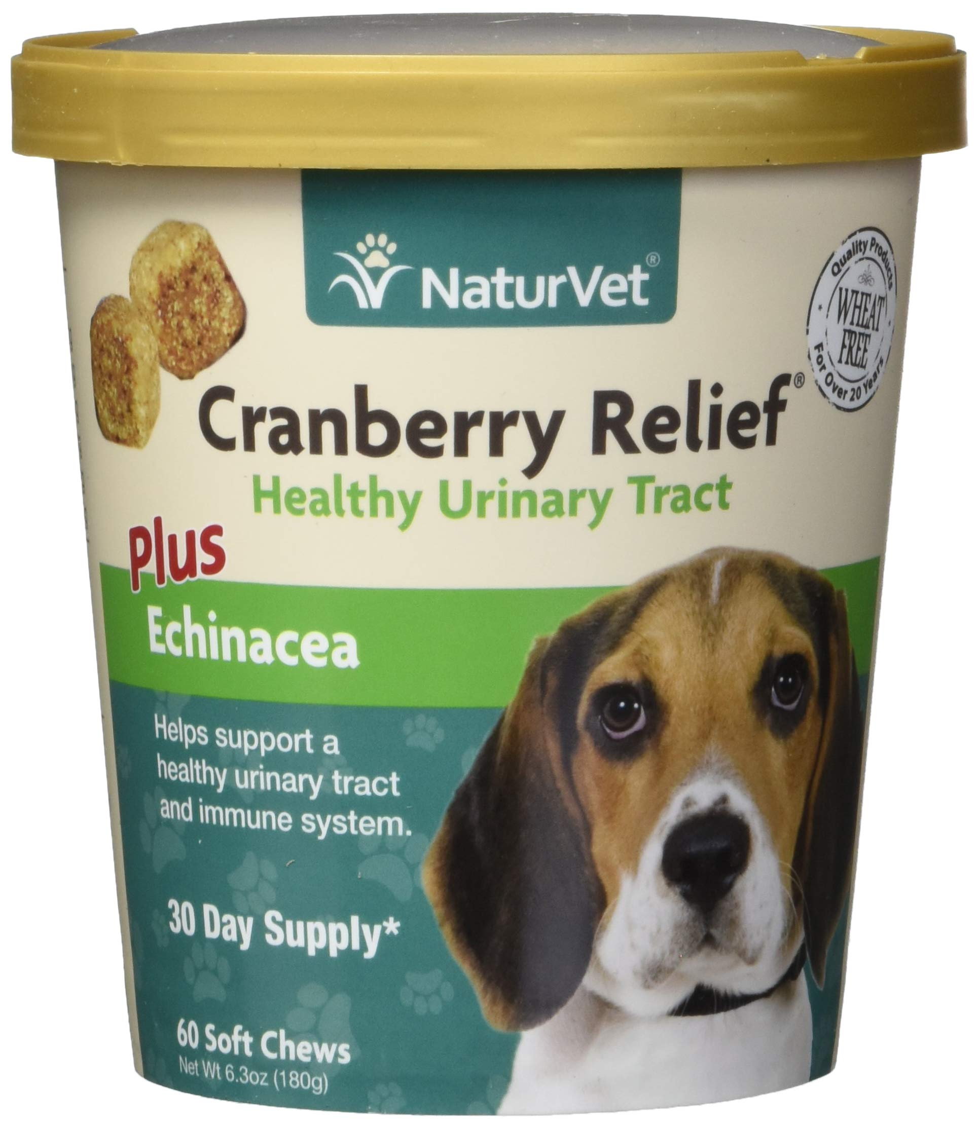 NaturVet - Cranberry Relief Plus Echinacea - Helps Support a Healthy Urinary Tract & Immune System - 60 Soft Chews by NaturVet