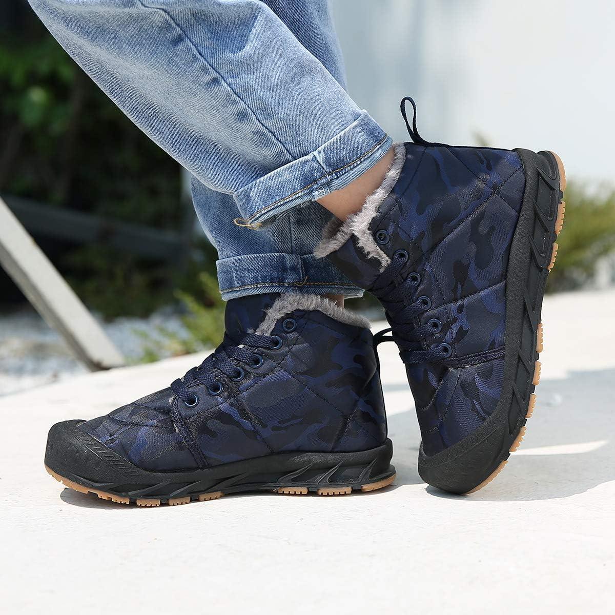 Nishiguang Kids Winter Snow Boots High