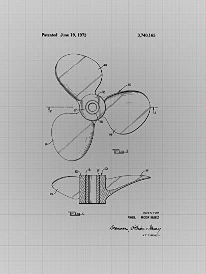 Amazon framable patent art the original poster art print framable patent art the original poster art print fishing boat propellor engine 18in by 24in patent malvernweather Image collections