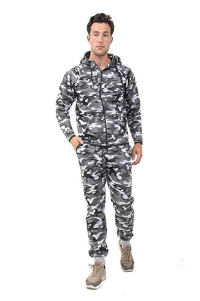 NEW Men camo Fleece Sweatsuit Track Suit Joggers