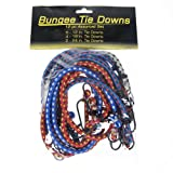12pc Bungee Cord Value Pack Medium Length Coated