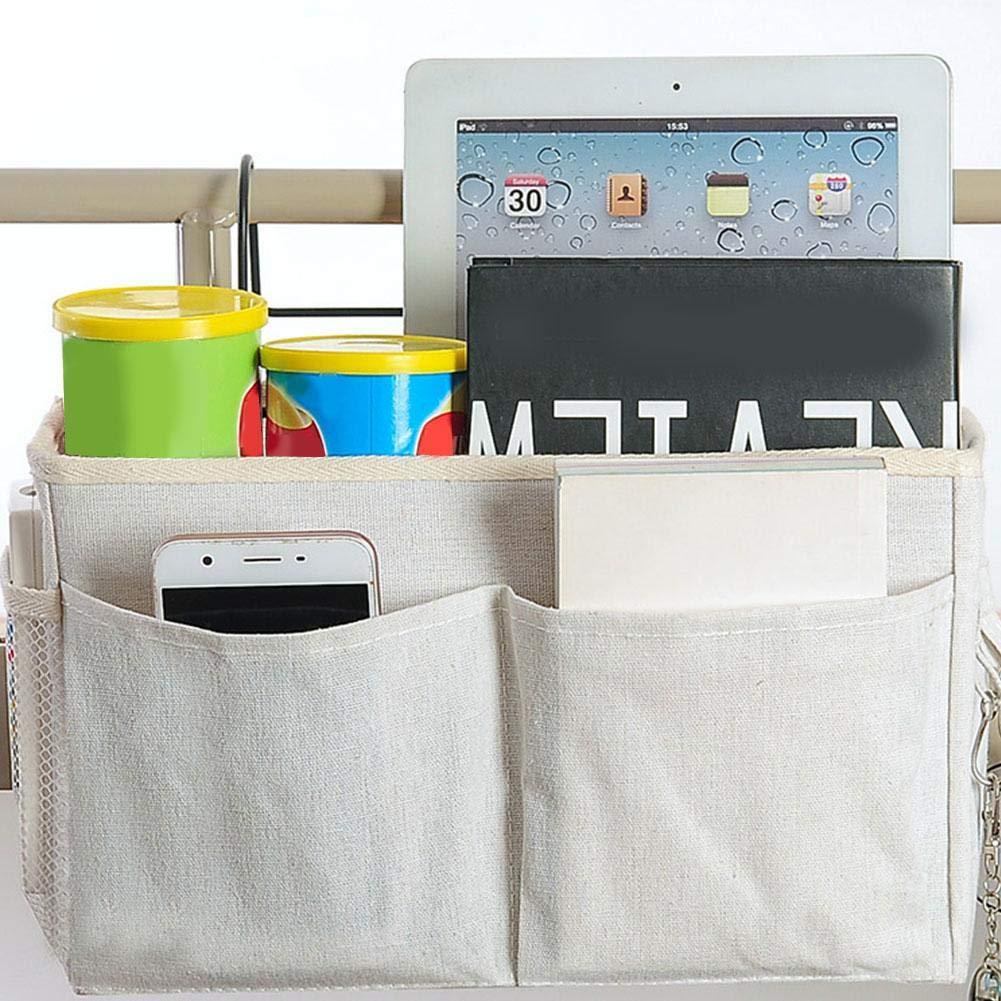 Organizador de cabecera respaldo de autom/óvil carrito de beb/é rieles de la habitaci/ón de dormitorio cuna bolsa de organizador de almacenaje colgante de cabecera para literas y camas de hospital