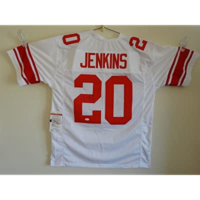 free shipping 1cbe4 4ad68 JANORIS JENKINS SIGNED AUTO NEW YORK GIANTS WHITE JERSEY JSA ...