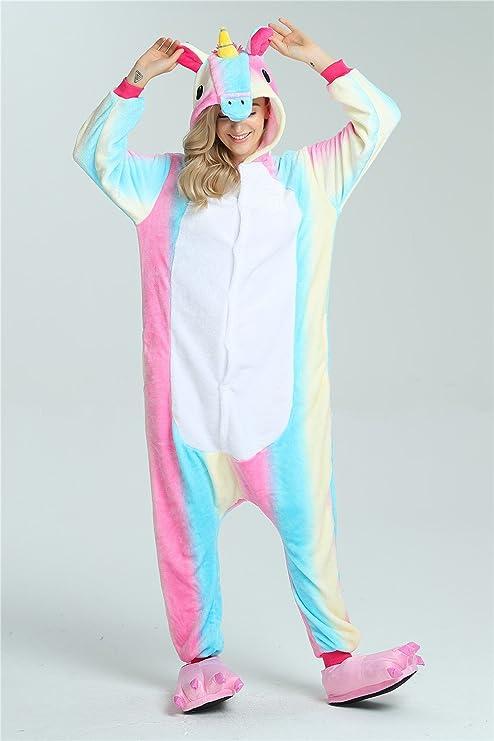 Pijama de unicornio, unisex, con capucha de forro polar, disfraz cosplay, de Jysport: Amazon.es: Deportes y aire libre