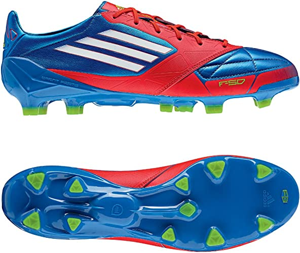 Adidas F50 Adizero TRX FG Lea Azul Hombre Zapatos de futból