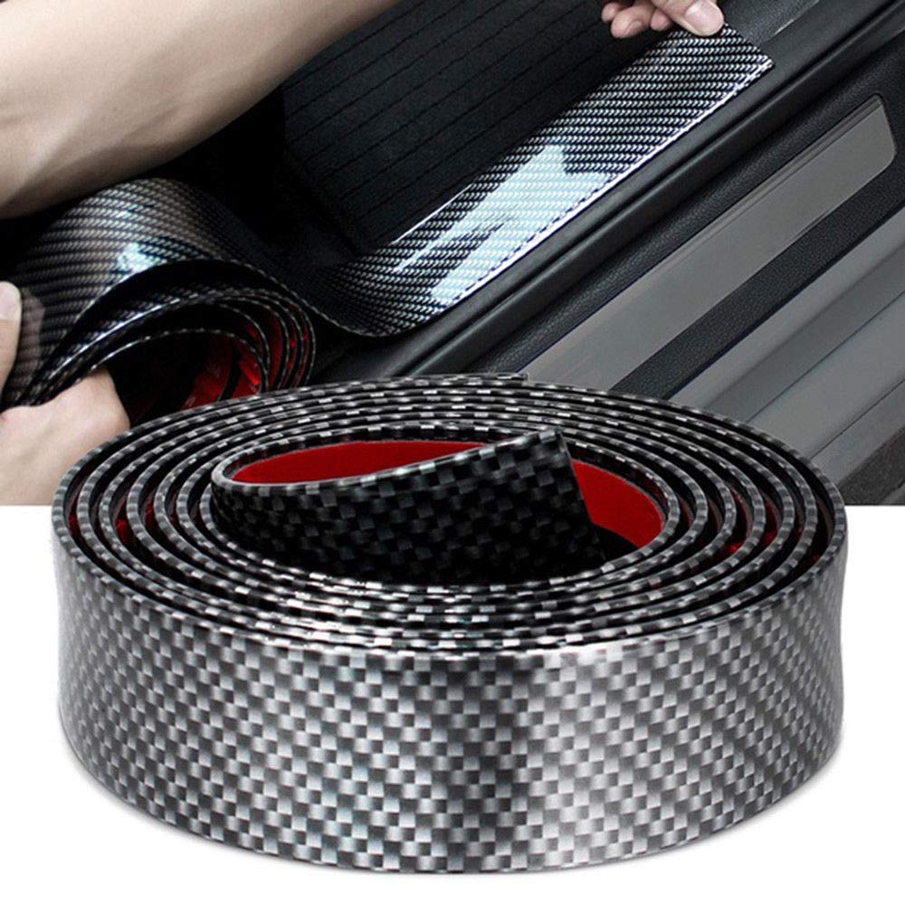 3cm-2m Length Car Sticker Carbon Fiber Rubber Edge Guard Strip Door Sill Protector