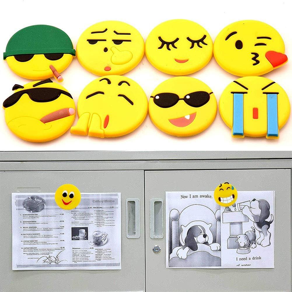 REYOK Aimant Emoji 20 PCS Aimant Frigo Smileys de R/éfrig/érateur 3D Aimant Tableau Blanc Aimant emoticone D/écoration de R/éfrig/érateurs Tableaux Blancs Le Choix pour Donner des Cadeaux